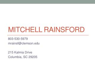 Mitchell Rainsford