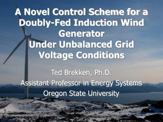 A Novel Control Scheme for a Doubly-Fed Induction Wind Generator  Under Unbalanced Grid Voltage Conditions