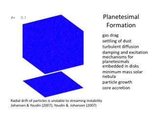 Planetesimal Formation