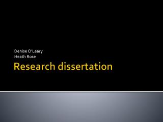 Research  dissertation
