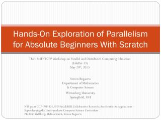 Hands-On Exploration of Parallelism for Absolute Beginners  W ith Scratch