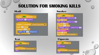 Solution for Smoking Kills