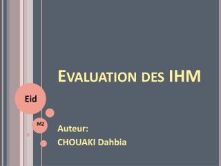 Evaluation  des IHM
