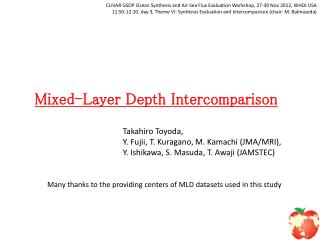 Mixed-Layer  D epth  Intercomparison