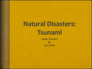 Natural Disasters: Tsunami