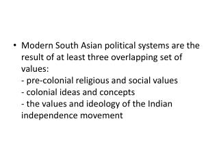 The influence of traditional religious and social values on  modern politics