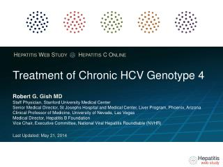 Treatment of Chronic HCV  Genotype  4