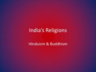India's Religions