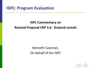 ISPC: Program Evaluation