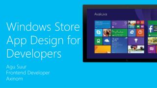 Windows Store App Design for Developers