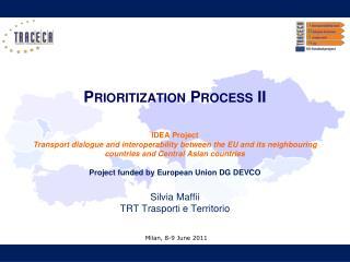 Prioritization Process II