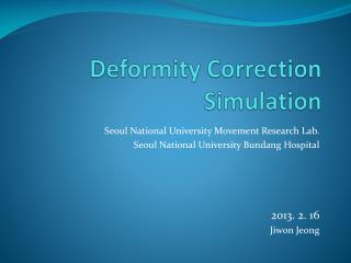 Deformity Correction Simulation