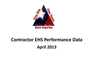 Contractor EHS Performance Data