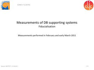 Measurements of DB supporting systems Fiducialisation