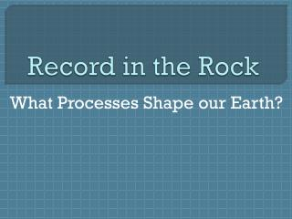 Record in the Rock