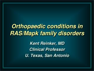 Orthopaedic  conditions in RAS/ Mapk  family disorders