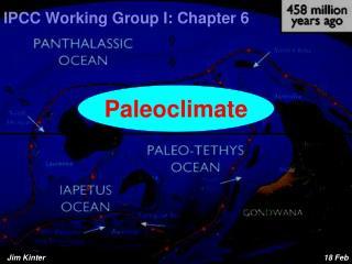 IPCC Working Group  I: Chapter 6