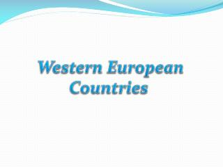 Western  Europe an Countries