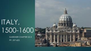 ITALY, 1500-1600