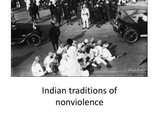 Indian traditions of  nonviolence
