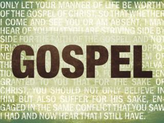 Defined by the Gospel Gospel Message � What we believe. Gospel Community � Who we are.