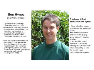 Ben Hynes Small Animal Director