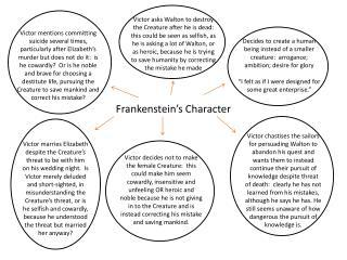 Frankenstein's Character