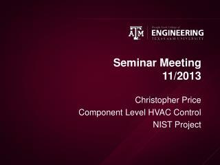 Seminar Meeting 11/2013