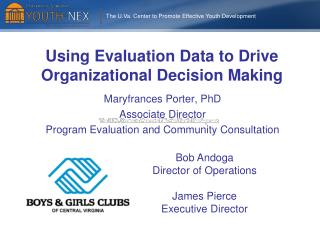Using Evaluation Data to Drive Organizational Decision Making