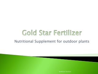 Gold Star Fertilizer