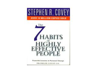 Reasons for writing the book Success:  Covey's point of view Example: Thomas Edison