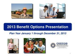 2013 Benefit Options Presentation