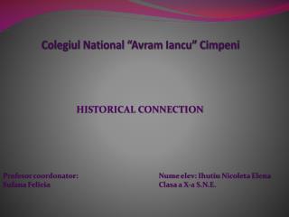 """Colegiul  National """" Avram Iancu """"  Cimpeni"""