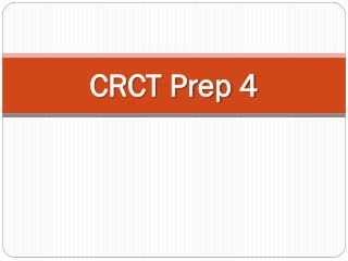 CRCT Prep 4