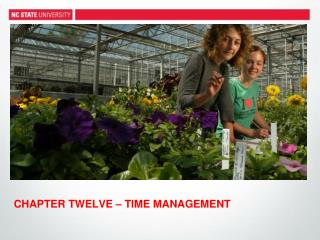 CHAPTER  TWELVE  –  TIME MANAGEMENT