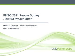 PHSO 2011 People Survey  Results Presentation