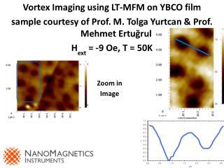 Vortex Imaging using LT-MFM on YBCO film