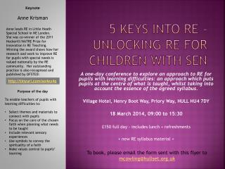 5 Keys into RE - unlocking RE for children with SEN