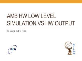 AMB HW low level simulation vs HW output
