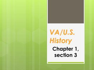 VA/U.S. History