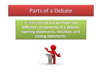 Parts of a Debate