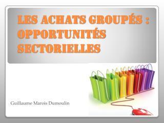 Les achats  groupés : opportunités sectorielles