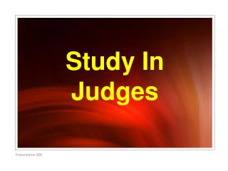 Study In Judges