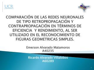 Emerson Alvarado Matamoros  A40235 Ricardo Alvarado Villalobos A60289