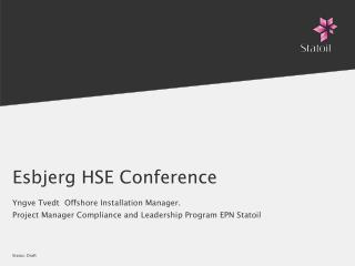 Esbjerg HSE Conference