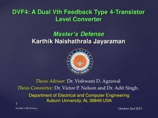 DVF4: A Dual  Vth  Feedback Type 4-Transistor Level Converter