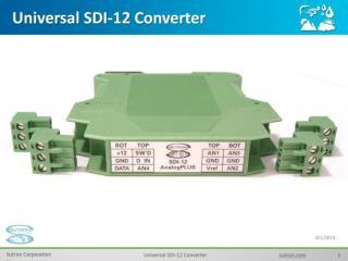 Universal SDI-12 Converter