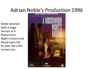 Adrian Noble's Production 1996