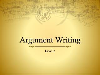 Argument Writing