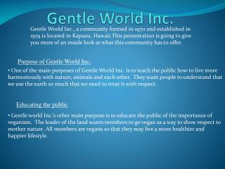Gentle World Inc.